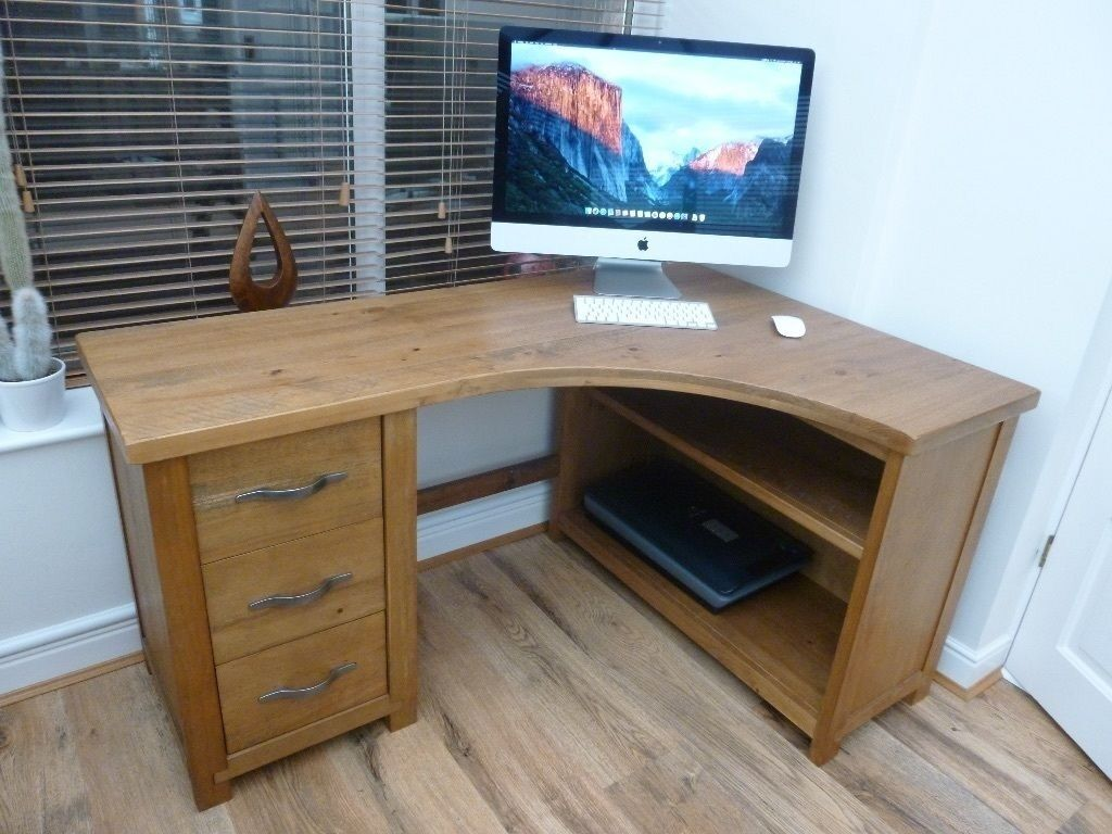Next hartford solid pine 3 drawer corner computer desk in whitley bay tyne and wear gumtree - Next corner computer desk ...