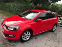 13 PLATE VOLKSWAGEN POLO IN RED EXCELLENT CONDITION INSIDE AND OUT 11,000 GENUINE MILES