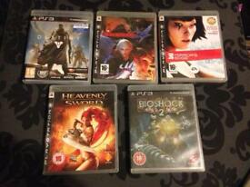 PS3 five game bundle Destiny, Mirror's Edge
