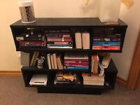 Black wooden bookcase