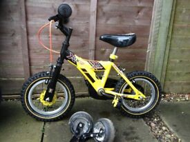 Raleigh MX12 Yellow and Black Bike 12 inch wheels - PERFECT XMAS GIFT