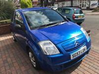 CITREON C2 1.2 LX FULL 12 MONTHS MOT 2004 REGISTERED WARRANTED LOW MILEAGE DRIVES GREAT
