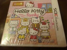 New Nintendo 3DS Game Hello Kitty Happy Happy Family only £7 ideal birthday present gift