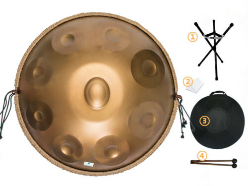 9 Notes D minor  Handpan Hand Drum Stainless Material Percussion + Bag
