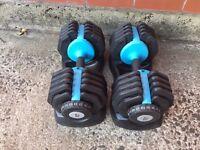 Men's Health Adjustable Dumbbells- 2 x 25kg set