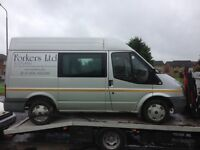 Ford transit swb, 57 reg, silver, 117k miles, mot jan, non runner, may need engine? £1095 kilmarnock