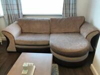 3 piece suite - 4 seater and 2 chairs