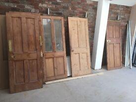 Various reclaimed Victorian internal doors.