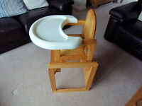 Mothercare wooden combination highchair