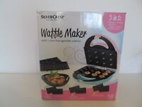 SilverCrest 3-in-1 Waffle Maker with interchangeable plates