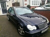 2002 Mercedes C200 kompressor Avantgarde Spares or repair