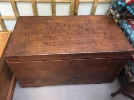Dark wood chest. Nostalgia pitch