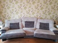 4 seater curved power recliner sofa