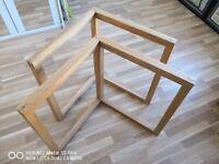 Habitat wooden desk supports.