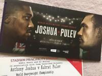 2 Joshua vs Pulev world heavyweight championship boxing tickets Cardiff 28th October