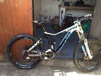 Giant Glory Full Suspension downhill mountain bike 10 speed.