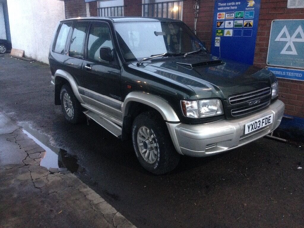 Isuzu trooper 3.0TD, 03 reg, no tax/mot, lost keys £350 kilmarnock