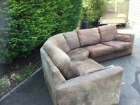 Large 3 piece corner sofa unit, sections clip together.