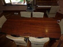 SOLID JARRAH DINING TABLE WITH EIGHT CHAIRS Byford Serpentine Area Preview