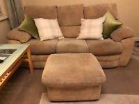 Sofa - John Lewis cream/beige fabric £50