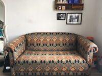 2 Seater Liberty print Sofa Bed