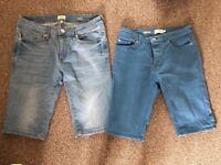 """Stretch skinny denim shorts, size 28"""""""