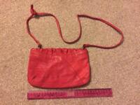 TOPSHOP Red leather handbag