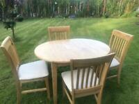 SOLD Extendable Oak Dining Table & 4 Chairs