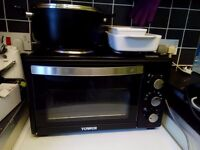 28 Litre Tower Mini Oven With Two Hotplates