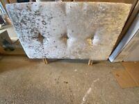 Single bed frame + 7 inch thick mattress + Mattress protector + Brand new memory foam pillow