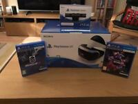 PlayStation VR Headset with Camera and 2 games