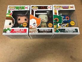 Pop Funko Chases - Pennywise - Merman - Buddy