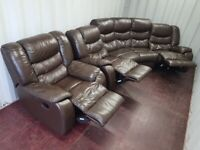 Reclining sofa suite...free delivery