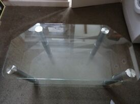 Glass Corner Three Tier TV Stand