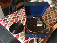Brunswick Gramaphone Player and 78rpm records