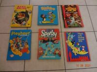 Six Vintage Children's Annuals