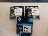 HP INK CARTRIDGES Black and trio colour pack
