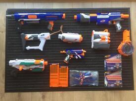 NERF GUN BUNDLE WITH DARTS