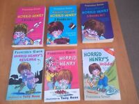 Horrid Henry books and Horrible History books