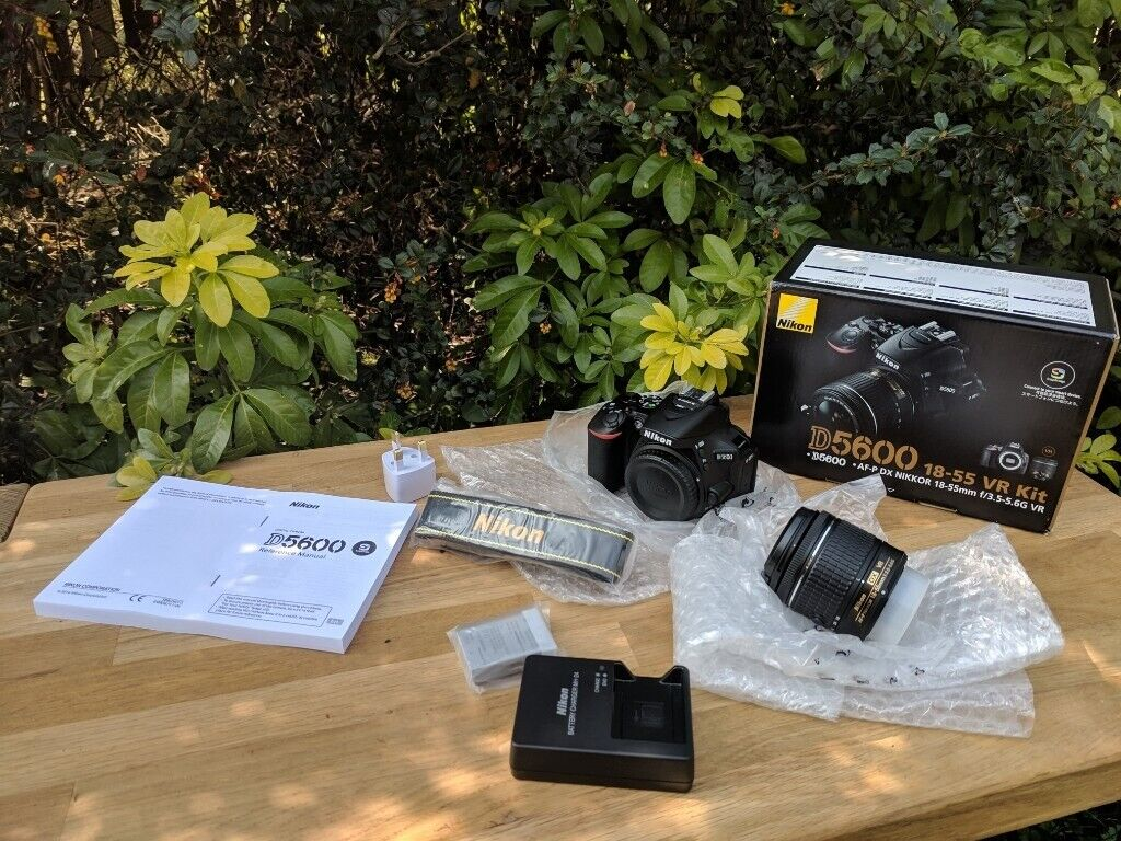 Nikon D5600 + 18-55mm VR Lens - BOXED New | in Brandon, County Durham |  Gumtree