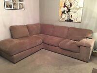 Fabric corner sofa- back for sale