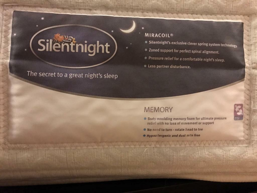 King Size Silentnight Comfort Miracoil Memory Mattress - Excellent Condition