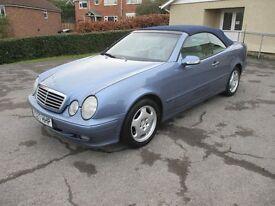 Mercedes CLK 230 Kompressor Elegance 2.3L Convertible Quartz Blue