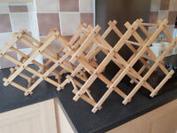 Wooden wine racks x 2