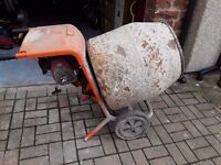 Cement bell mixer with stand