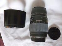 Sigma AF70-300/f.4-5.6 DG Macro Fof Nikon Boxed as New