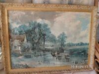"Print by John Constable ""the Haywain"""