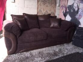 New Maze 3 Seater Scatterback Sofa In Chocolate