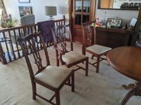 Extending dining table plus 6 chairs