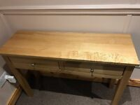 Solid Oak Table with two drawers - Excellent Condition